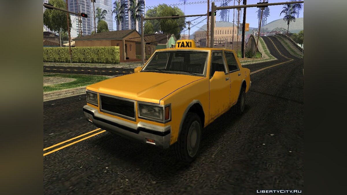Taxi Version of LV Police Cruiser для GTA San Andreas