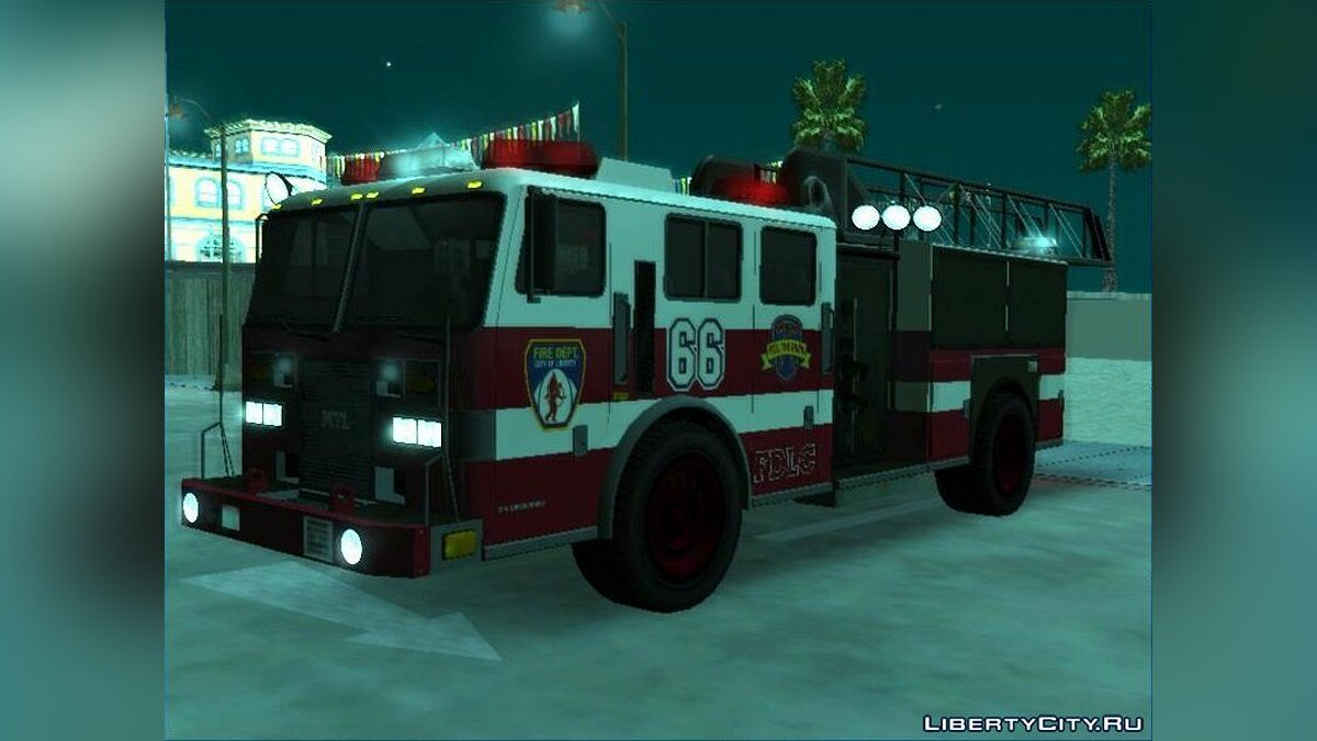 Машина GTA 4 Firetruck Ladder [EML] для GTA San Andreas