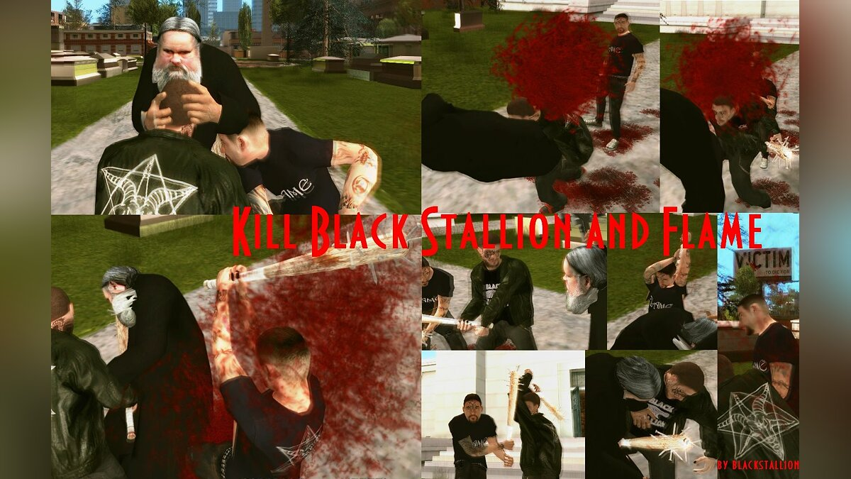 Kill Black Stallion & Flame для GTA San Andreas