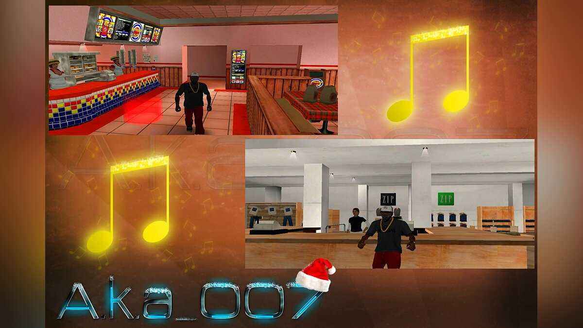 Interior Christmas music для GTA San Andreas