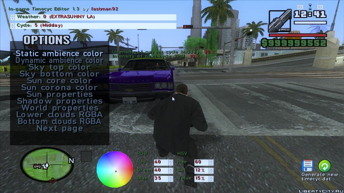 In-game Timecyc Editor 1.3 для GTA San Andreas