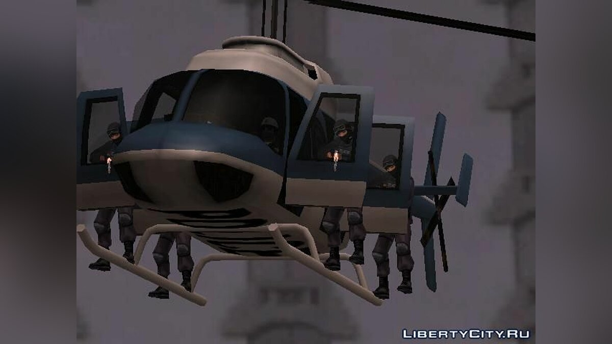 Police helicopter update для GTA San Andreas