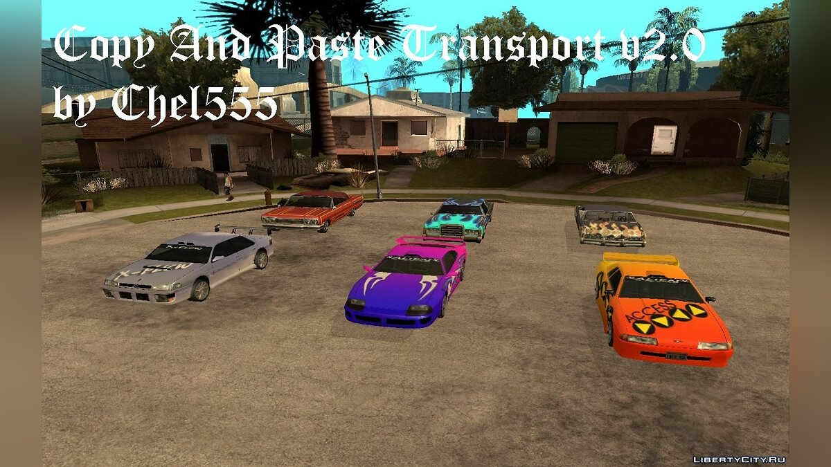 Copy And Paste Transport v2.0 для GTA San Andreas