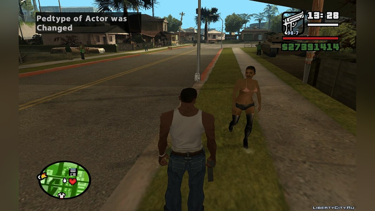 Change Pedtype and Walk Style of Actor для GTA San Andreas - скриншот #6