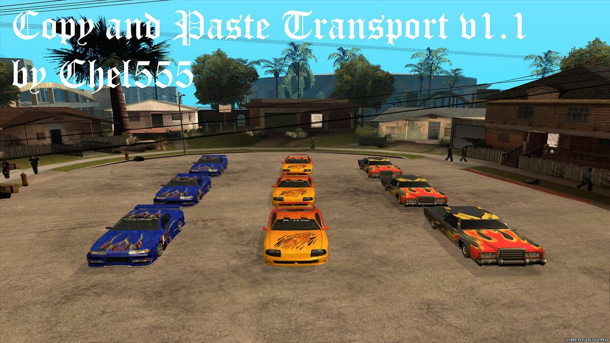 Copy and Paste Transport v1.1 для GTA San Andreas