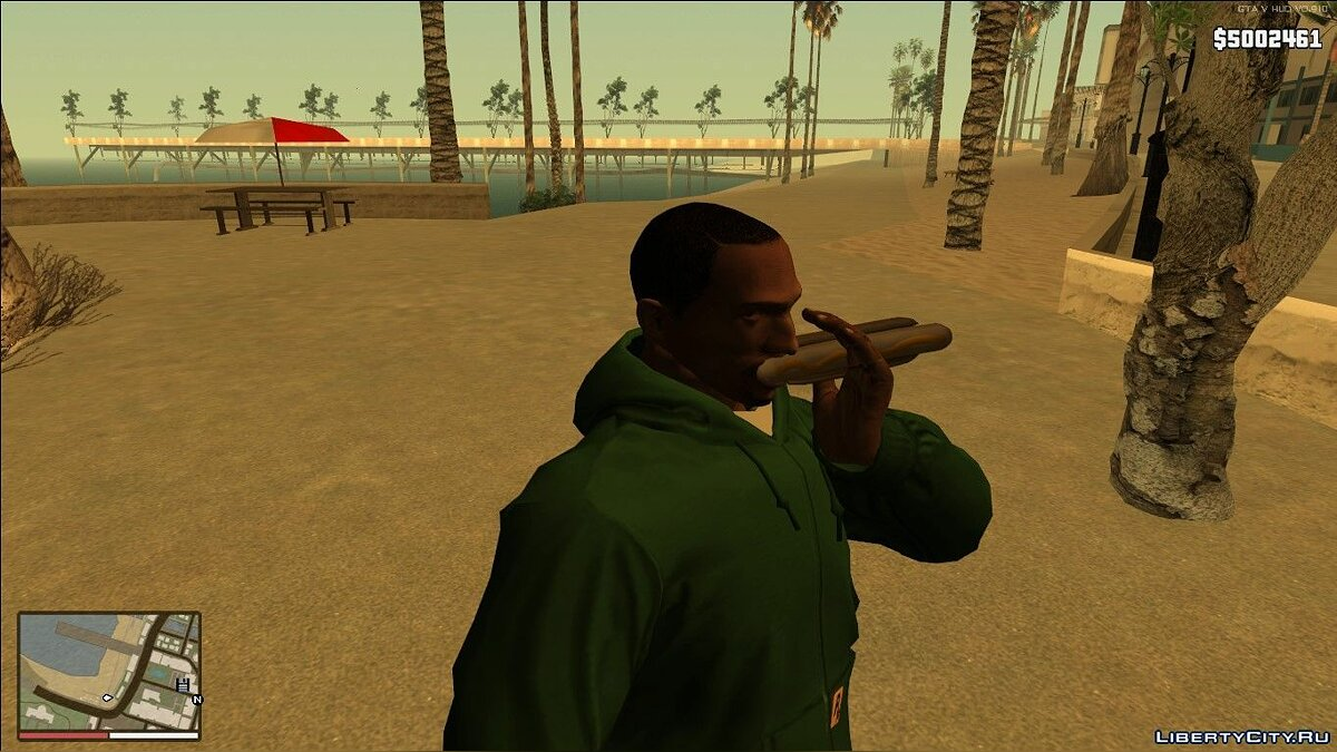 Food Eating Fix v1.2 для GTA San Andreas