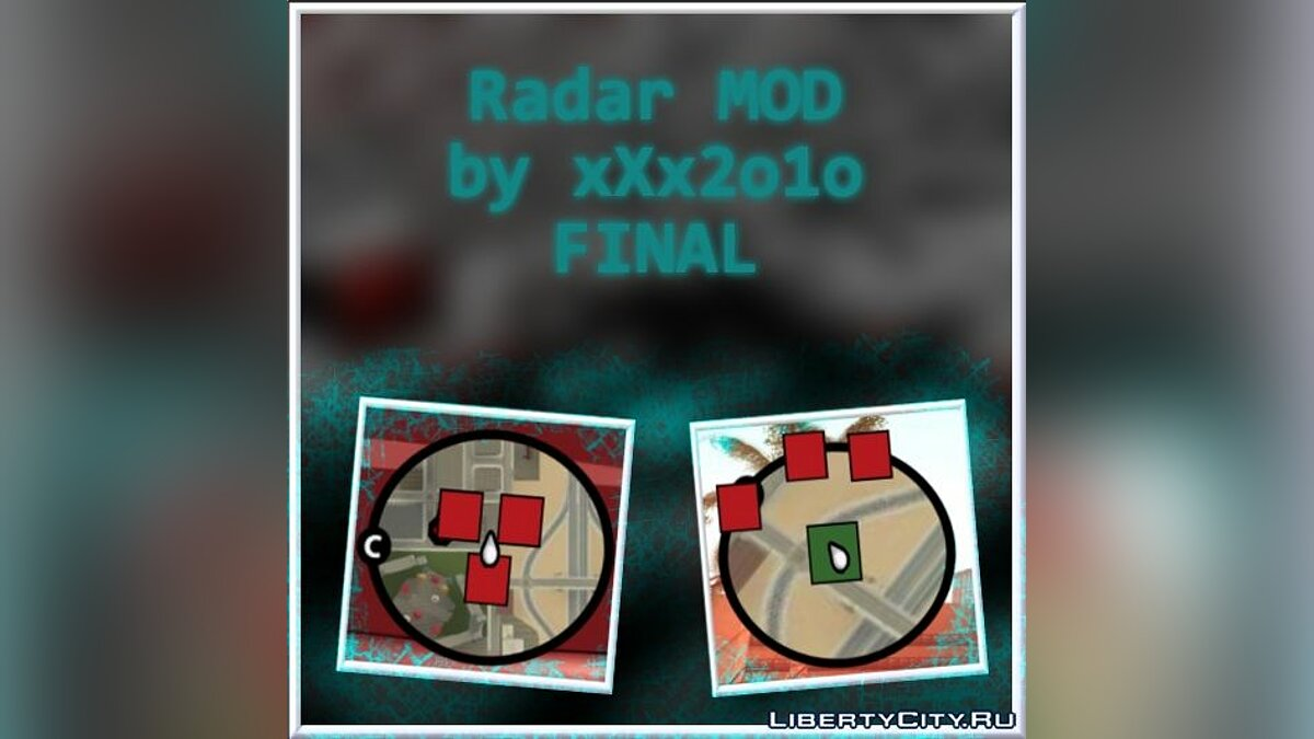 Radar MOD by xXx2o1o FINAL для GTA San Andreas