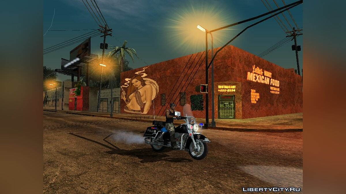 Realistic behavior of the Police для GTA San Andreas