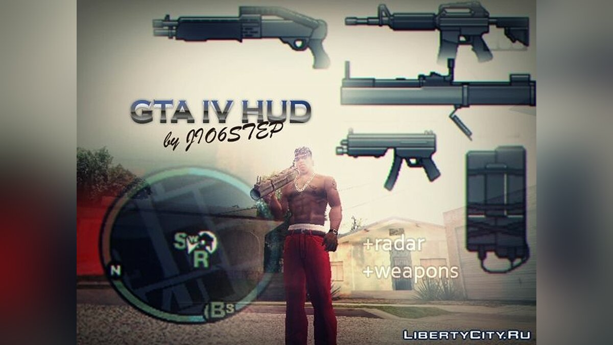 GTA IV HUD by JIO6STEP для GTA San Andreas
