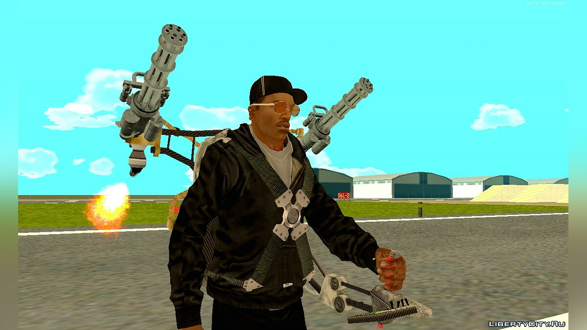 GTA SA - Jetpack with Miniguns для GTA San Andreas - Картинка #1