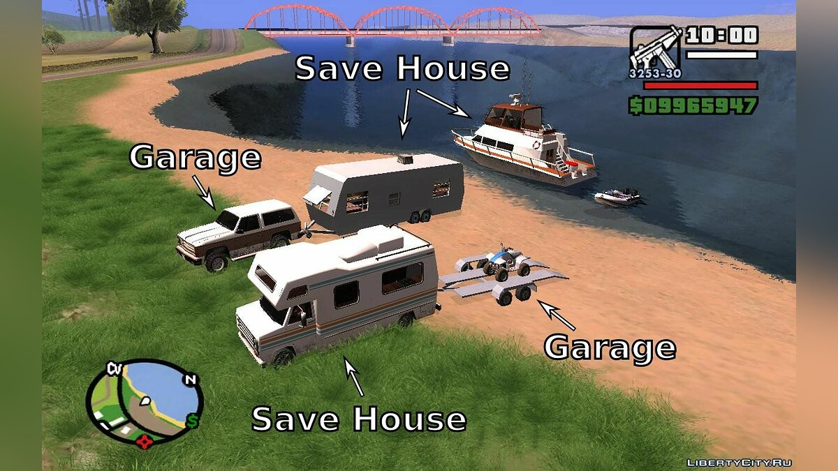 Camping Mobile Save House 2.0a and Trailer Attach для GTA San Andreas