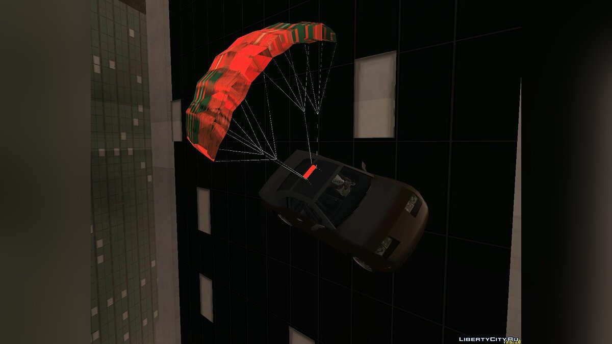 CLEO скрипт The Parachute on Car Mod для GTA San Andreas