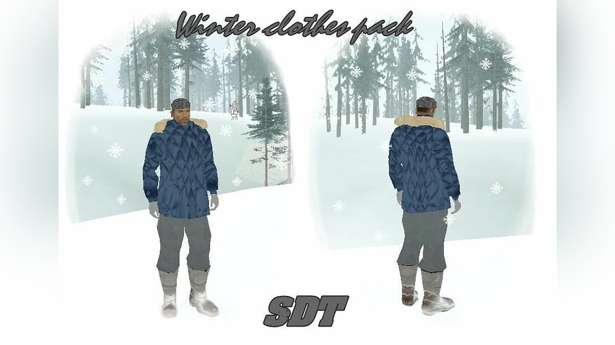 Winter clothes pack для GTA San Andreas