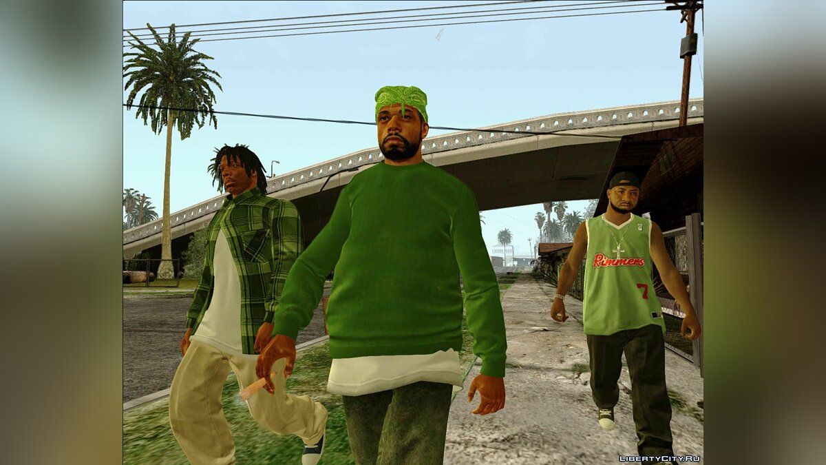 ��борник скинов Grove Street Families Remastered для GTA San Andreas