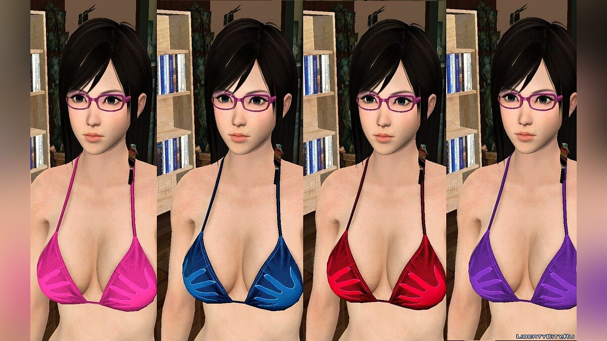 Сборник скинов Kokoro Bathing Suit Pack для GTA San Andreas