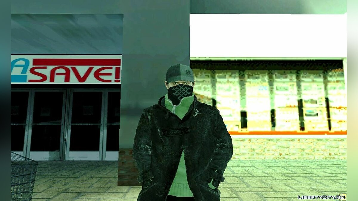 Aiden Pearce Skin Pack для GTA San Andreas - скриншот #7