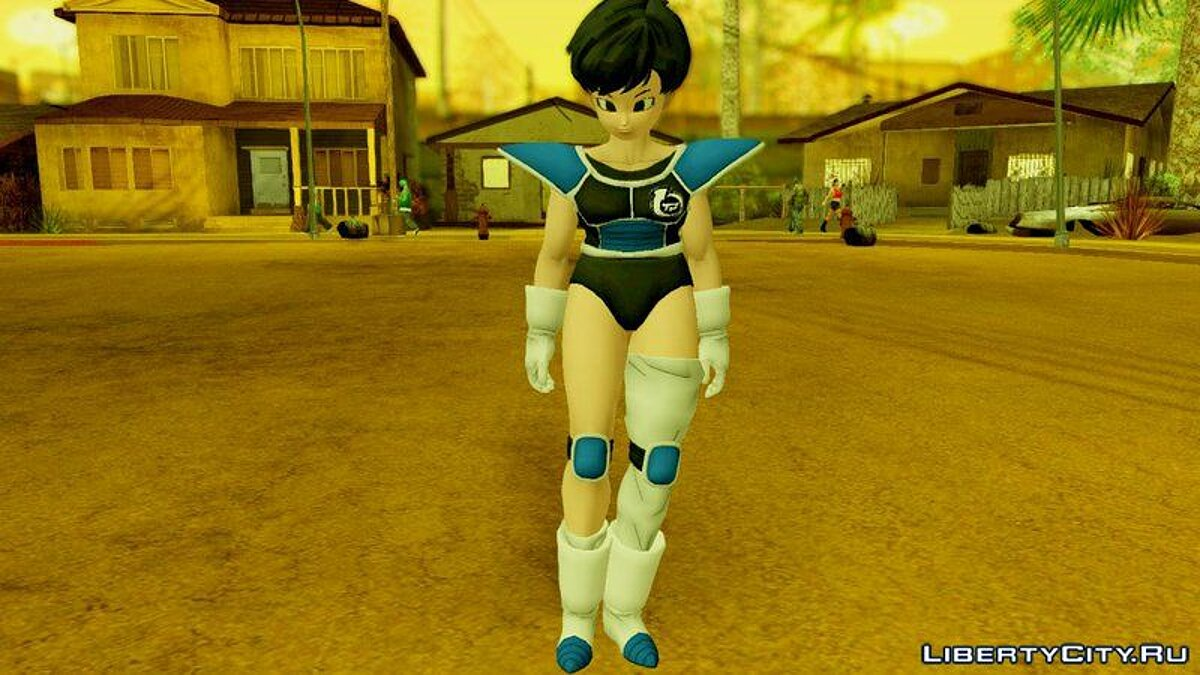Dragon Ball Xenoverse 2 Female Saiyan Default Pack для GTA San Andreas