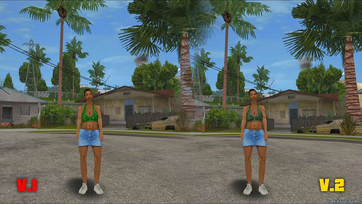 Original Main Characters Improved Smooth Textures [update #1] для GTA San Andreas - Картинка #9