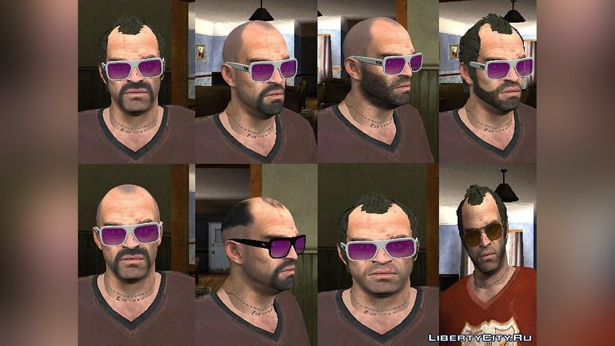 Сборник скинов Trevor Phillips by Axel для GTA San Andreas