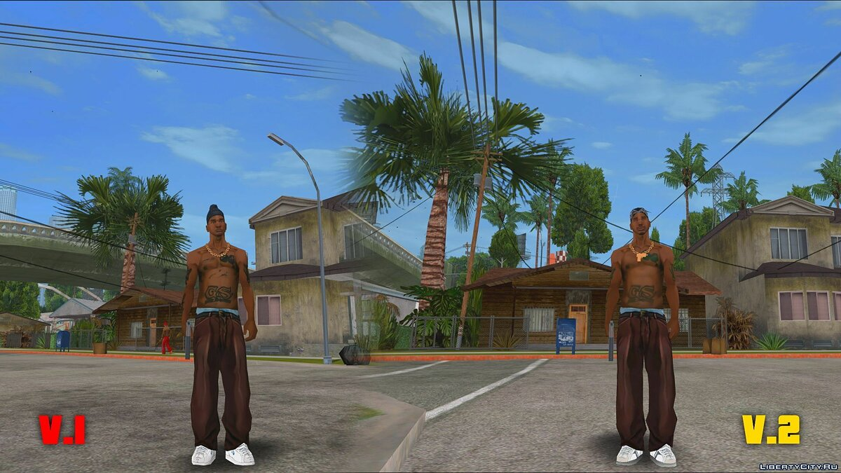 Original Main Characters Improved Smooth Textures [update #1] для GTA San Andreas - Картинка #4