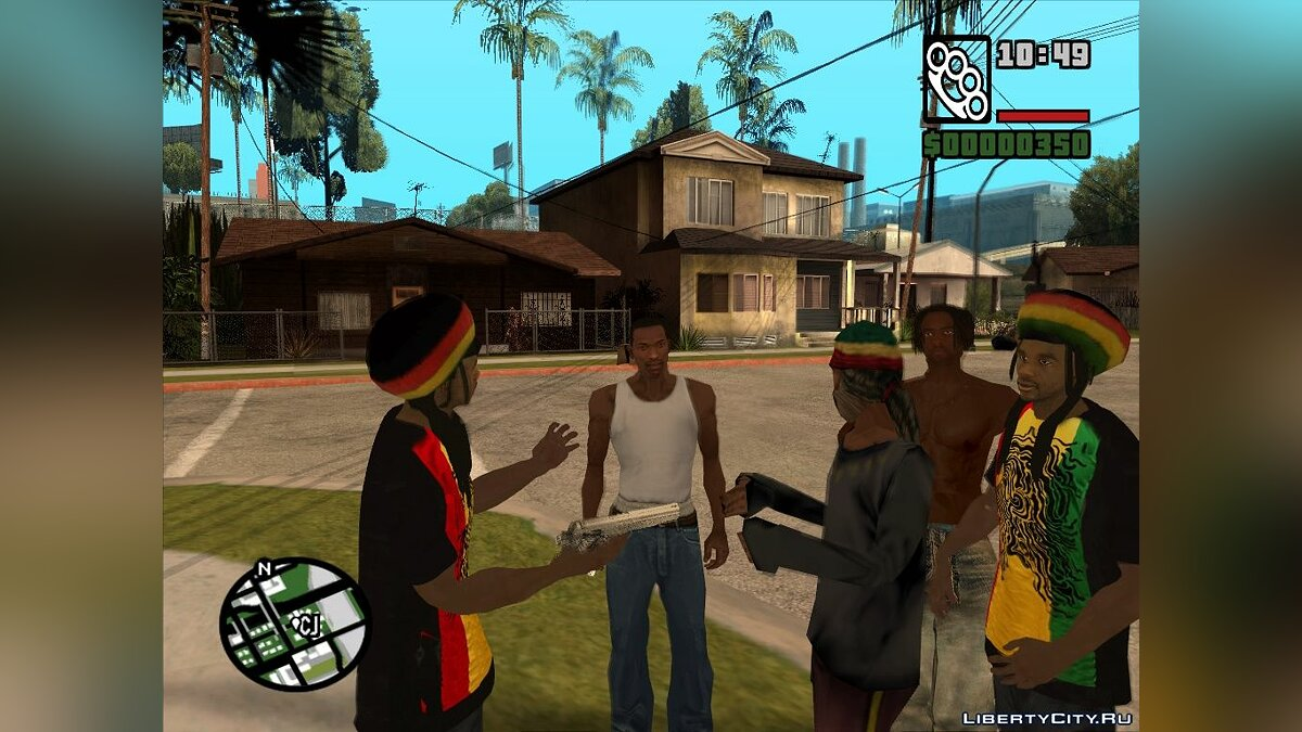 Rastamans Gang для GTA San Andreas - скриншот #3