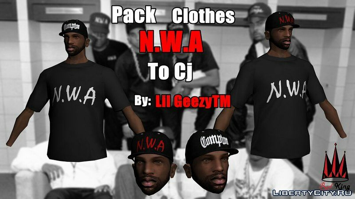 Pack Clothes N.W.A To Cj HD для GTA San Andreas