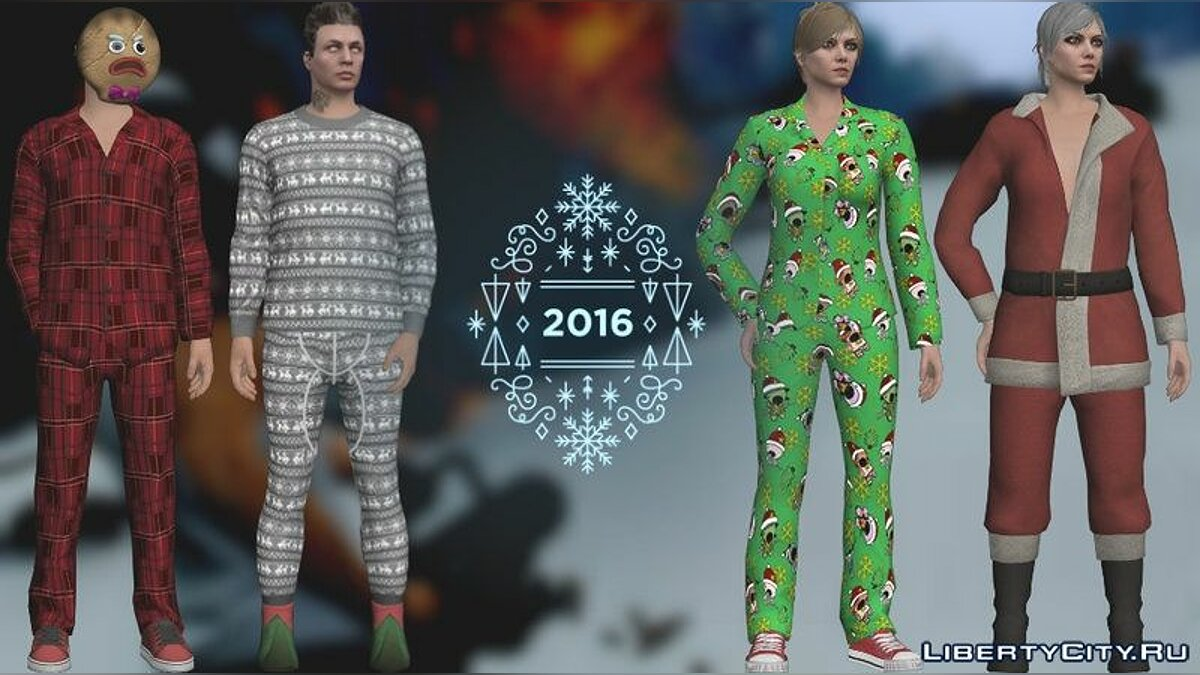 GTA Online DLC Festive Surprise Skin Pack для GTA San Andreas