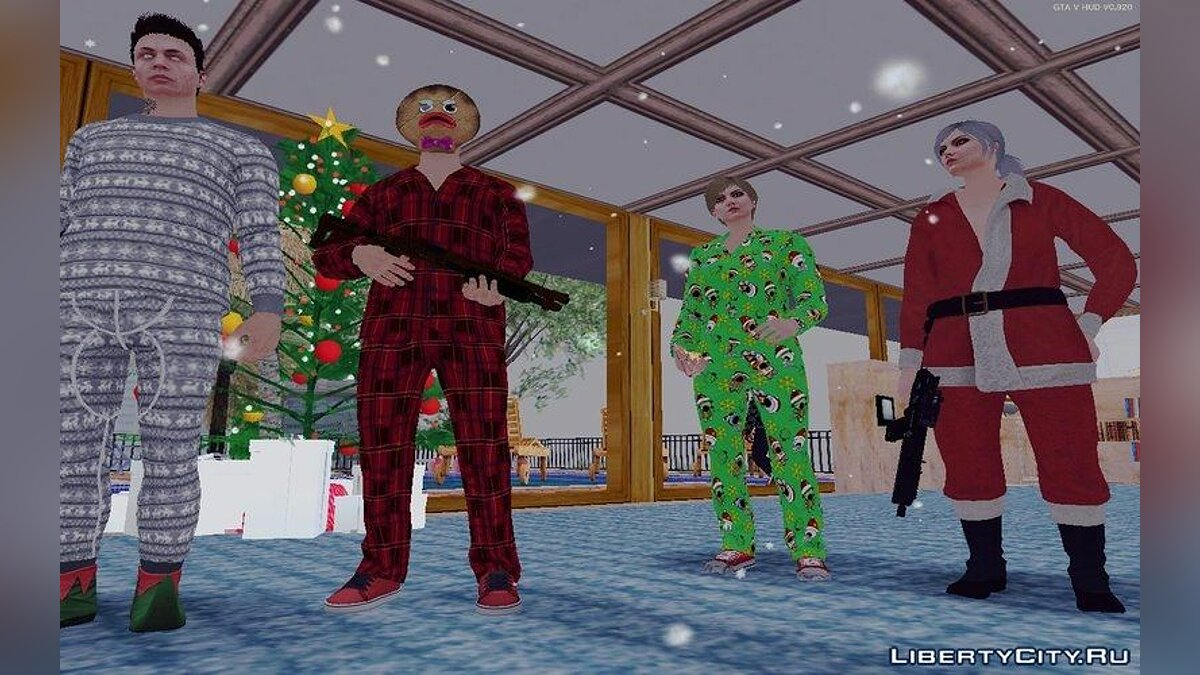 GTA Online DLC Festive Surprise Skin Pack для GTA San Andreas - скриншот #2