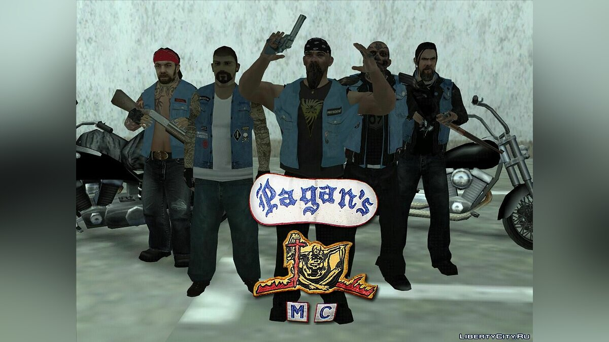 Pagan's MC Bikers pack для GTA San Andreas