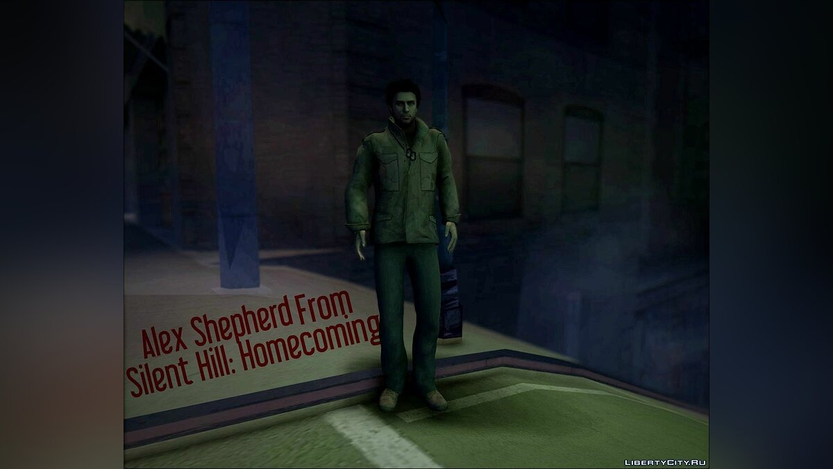 Alex Shepherd From Silent Hill: Homecoming для GTA San Andreas