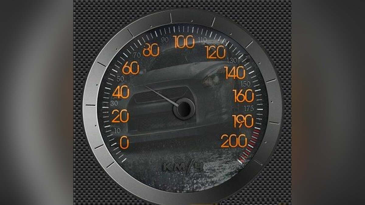 Speedometer Steel and Black для GTA San Andreas