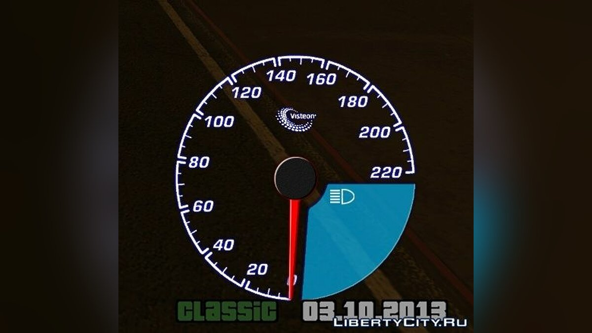 Visteon speedometer для GTA San Andreas