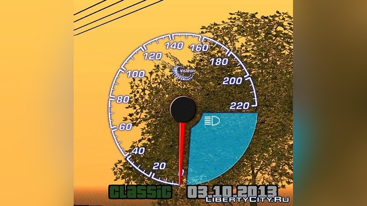 Visteon speedometer для GTA San Andreas - скриншот #2
