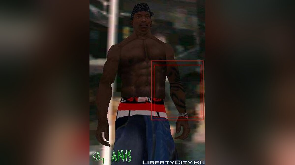 G-unit Arm-Tattoo для GTA San Andreas