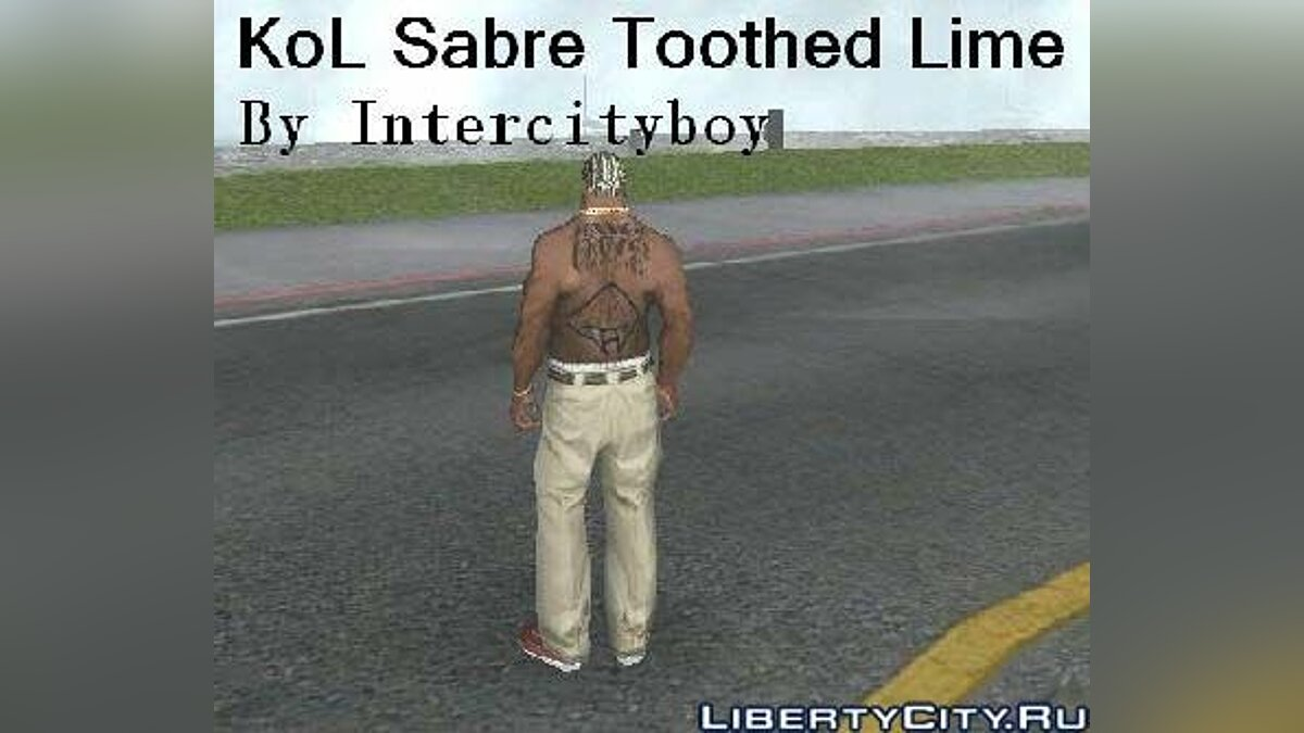KoL Sabre Toothed Lime Tattoo для GTA San Andreas