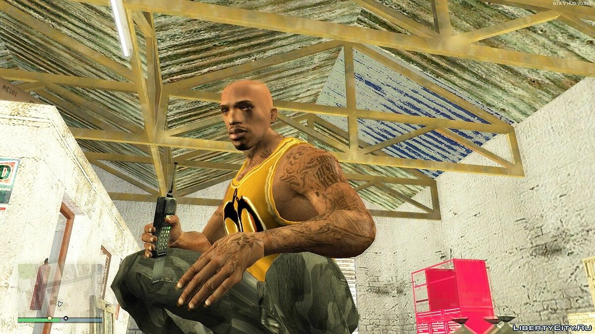 Татуировка CJ INSANITY tattoo для GTA San Andreas