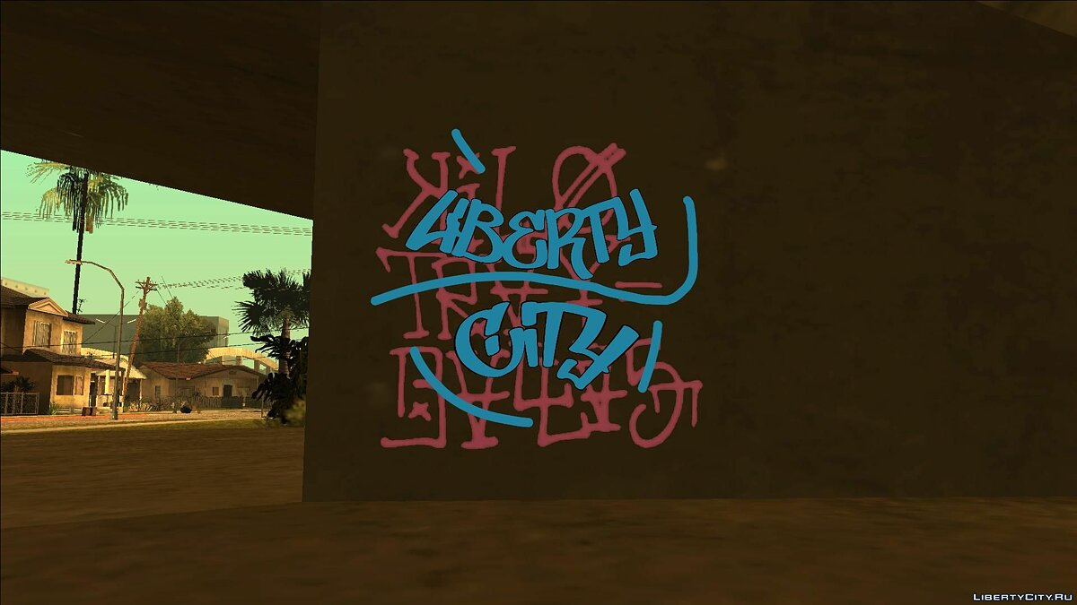 Текстурный мод Liberty City Fan Graffity (4K) для GTA San Andreas