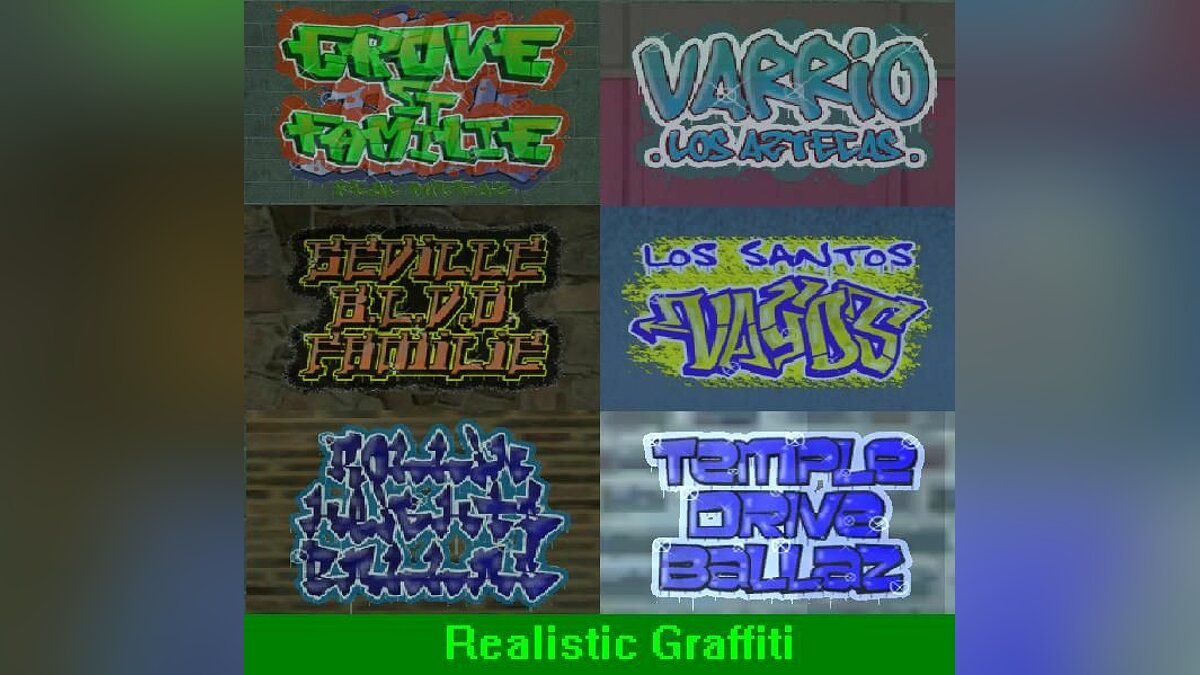 New LS gang tags для GTA San Andreas
