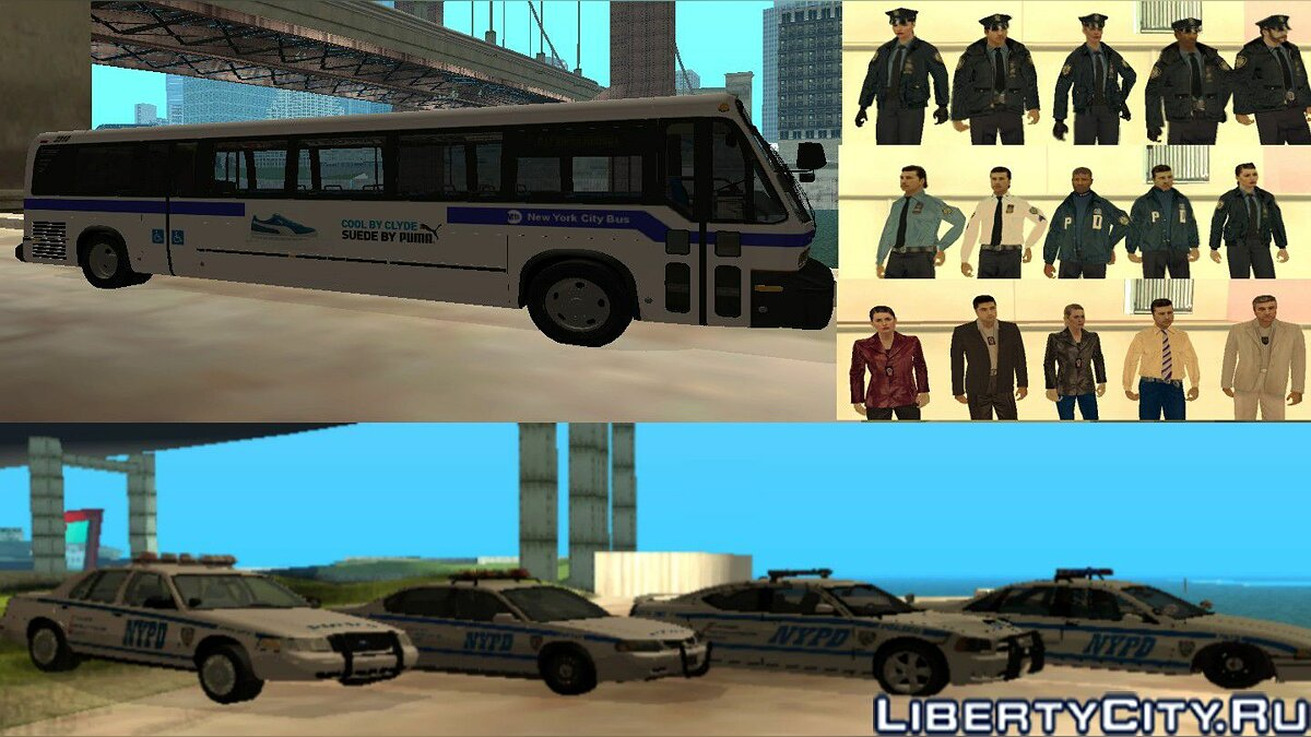 The Ultimate New York City pack V1.0 для GTA San Andreas