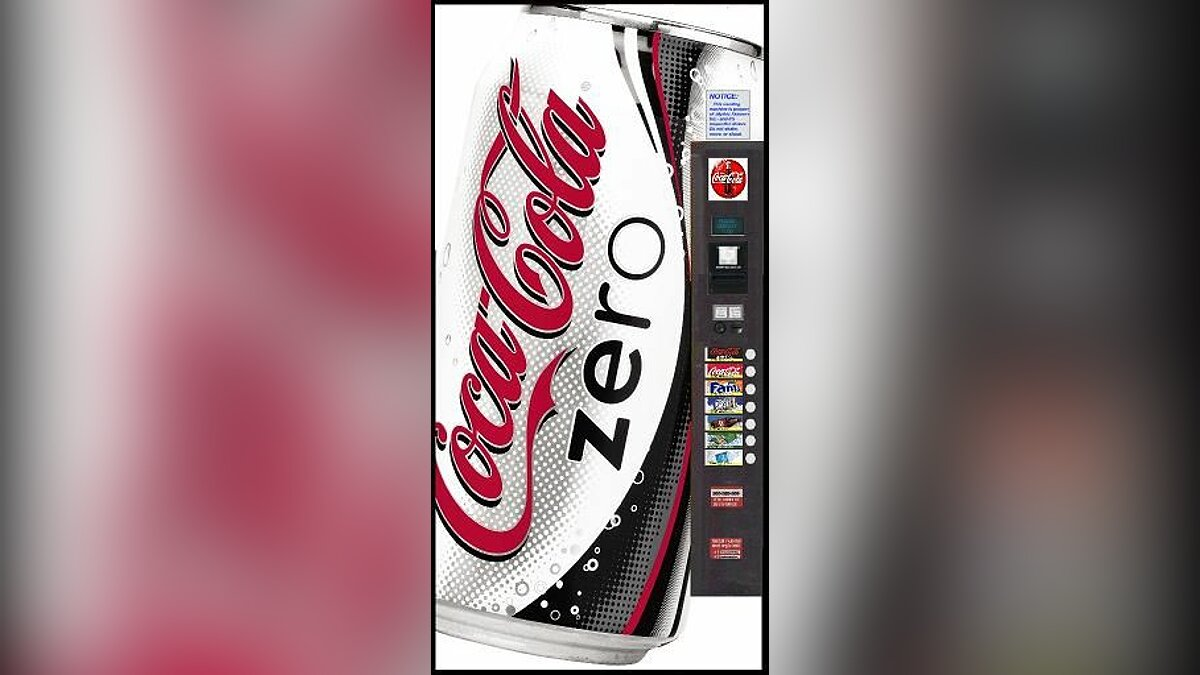 HD Coke Zero Vending Machine для GTA San Andreas - Картинка #1