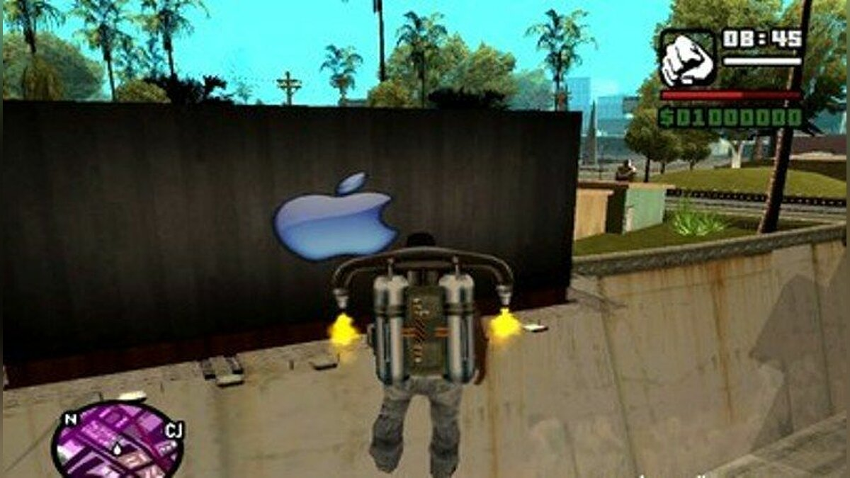 Apple Billboard Blue для GTA San Andreas