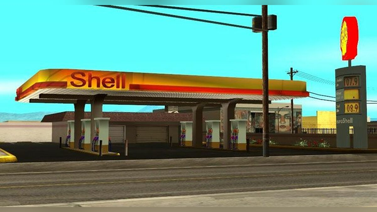 Vegas shell station для GTA San Andreas