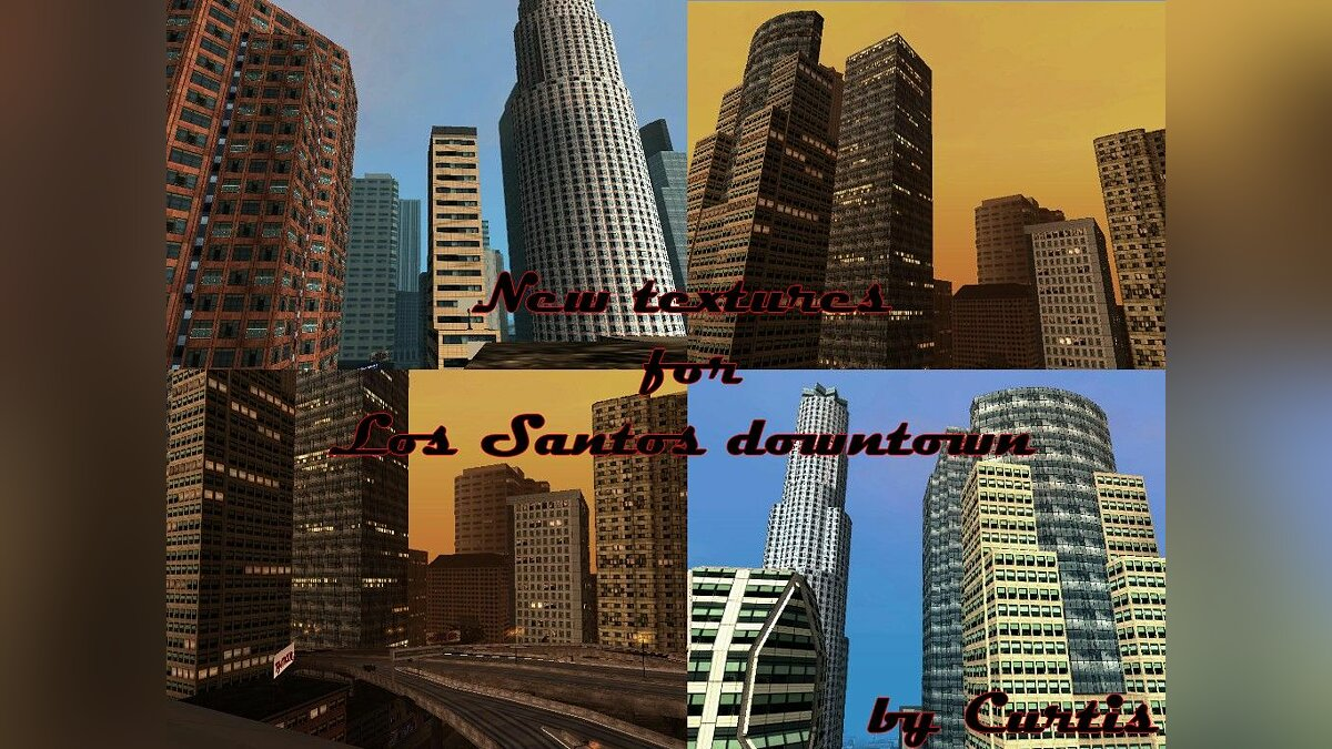 New textures for Los Santos downtown для GTA San Andreas