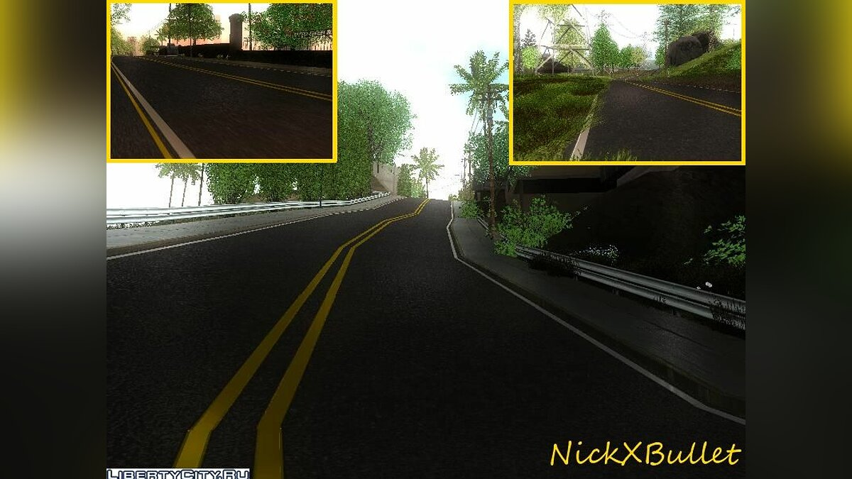 Global Change Roads in LS and SF для GTA San Andreas