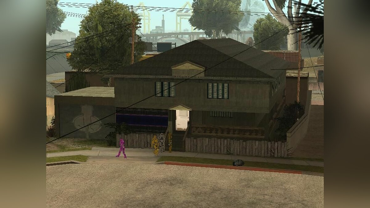 Halo Style Groove Street Gang Houses для GTA San Andreas
