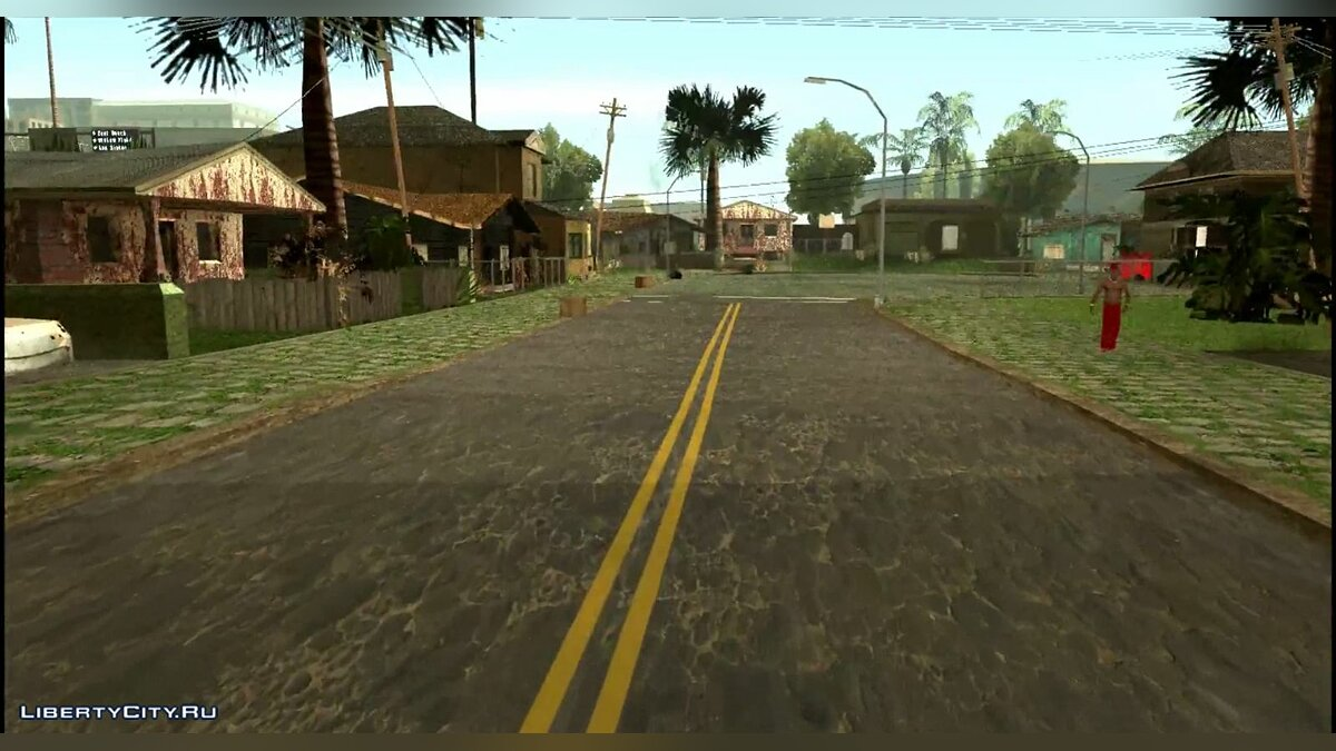 HQ Grove Street and roundness 0.8 для GTA San Andreas