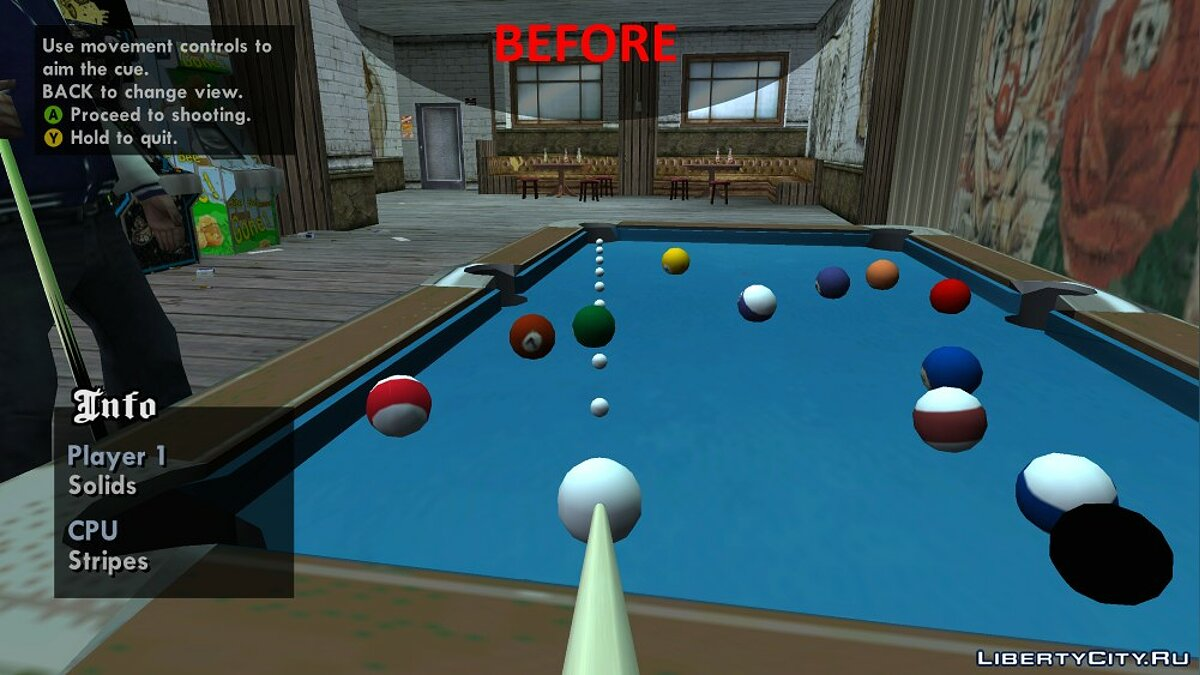 Improved Pool Mini-Game Textures для GTA San Andreas - Картинка #1