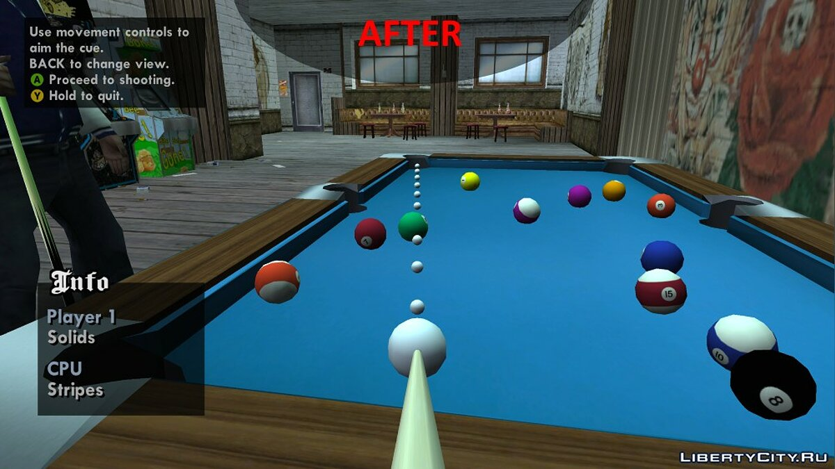 Improved Pool Mini-Game Textures для GTA San Andreas - Картинка #2