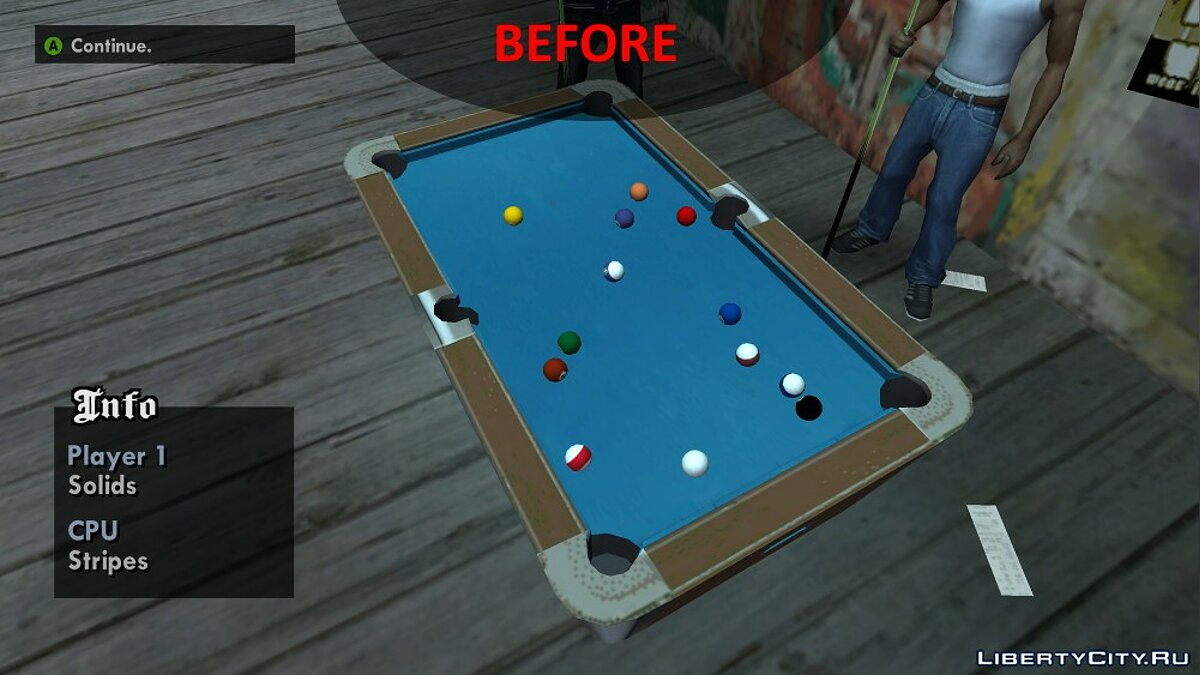Improved Pool Mini-Game Textures для GTA San Andreas - Картинка #5