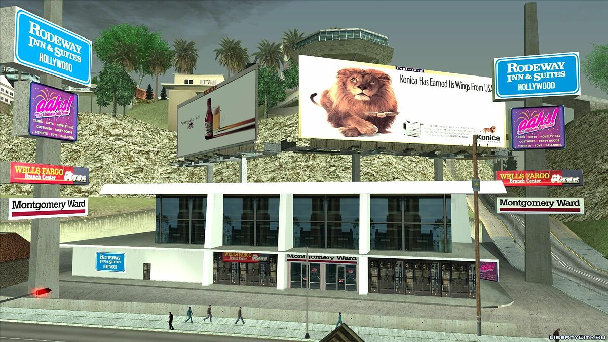 Текстурный мод Los Angeles real billboards and stores 1992 для GTA San Andreas